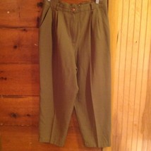 Requirements Brown Casual Pants Size 16 Made in USA Button and Zipper Closure