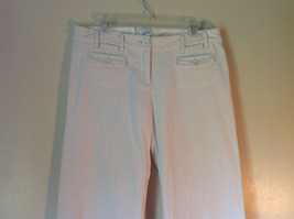 Ann Taylor LOFT White Pants Size 10 Front and Back Pockets image 2