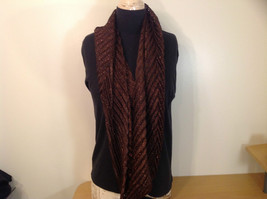 Metallic Pleated Infinity Scarf Brown Metallic Thread 100 Percent Polyester image 2
