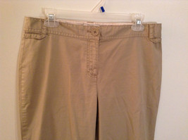 Ann Taylor Loft Tan Casual Pants Flared Bottoms Back Pockets Size 10P image 3