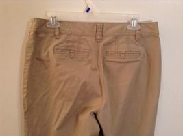 Ann Taylor Loft Tan Casual Pants Flared Bottoms Back Pockets Size 10P image 5