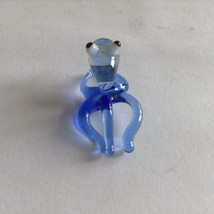 Micro Miniature small hand blown glass blue squid  made USA NIB image 2