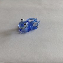 Micro Miniature small hand blown glass blue squid  made USA NIB image 3