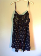Richard Lang 100 Percent Silk Size 10 Spaghetti Strapped  Polka Dotted Dress image 1