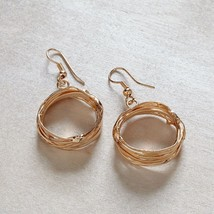 Rose Gold finished wire hoop restaurant
