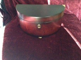 Rosewood   Jewelry Box by Bombay Company Two Sections no key image 1
