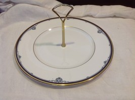 Royal Doulton Princeton pattern china serving plate with handle vintage estate
