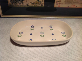 Pfaltzgraff Ceramic Serving Bowl with Flowers Made in USA Very Nice image 2