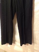 Perry Ellis Mens Classic Black Dress Pants, Size 20R image 5