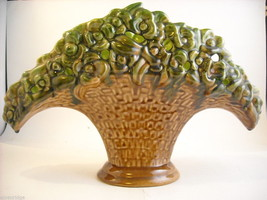 Royal Haeger vintage ceramic flower basket vase image 1