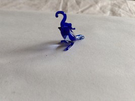 Micro Miniature small hand blown glass made USA NIB blue and white tropical bird image 2
