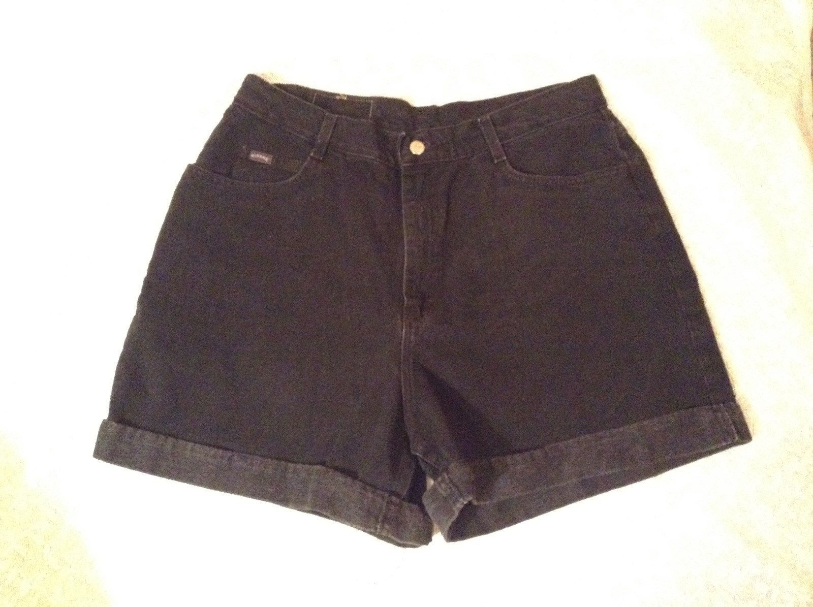 Riders Black Cuffed Bottom Jean Shorts 100 Percent Cotton Size 18M