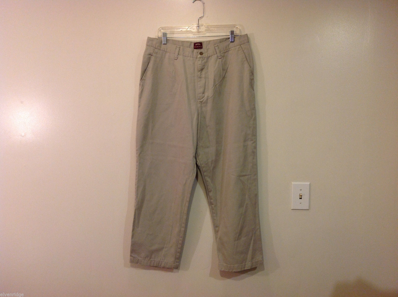Riders Casual Petite Light Gray 100% Cotton Pants, Size 18