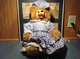 Robert Raikes Large Teddy Bear with Wooden Face Becky Thatcher Limited Edition