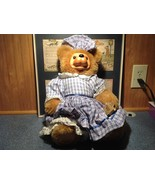 Robert Raikes Large Teddy Bear with Wooden Face Becky Thatcher Limited E... - $99.00