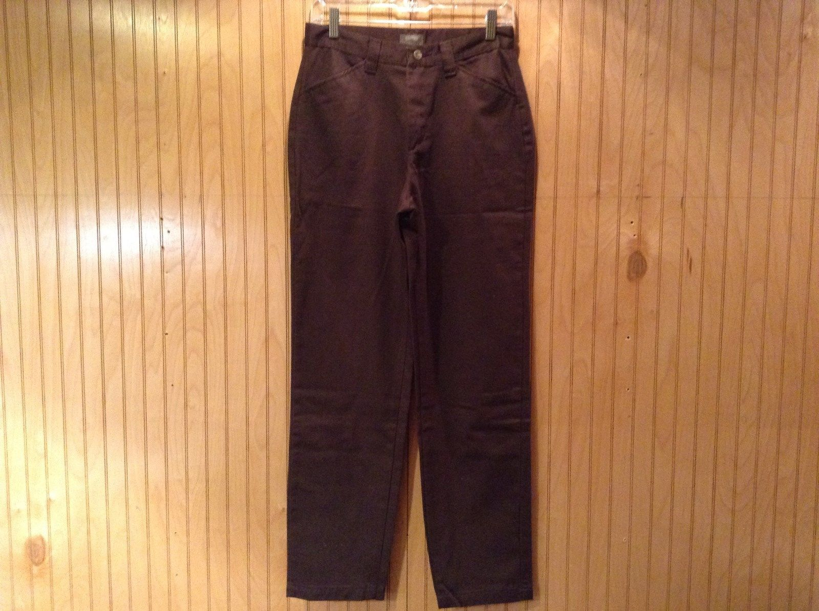 Riders Casuals Brown Colored Jeans Size 6 Medium 2 Front Pockets Zipper