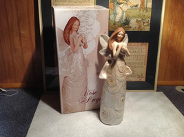 Rose Angel Porcelain Figurine by Angel Star Angel with Heart New In Box - $44.54