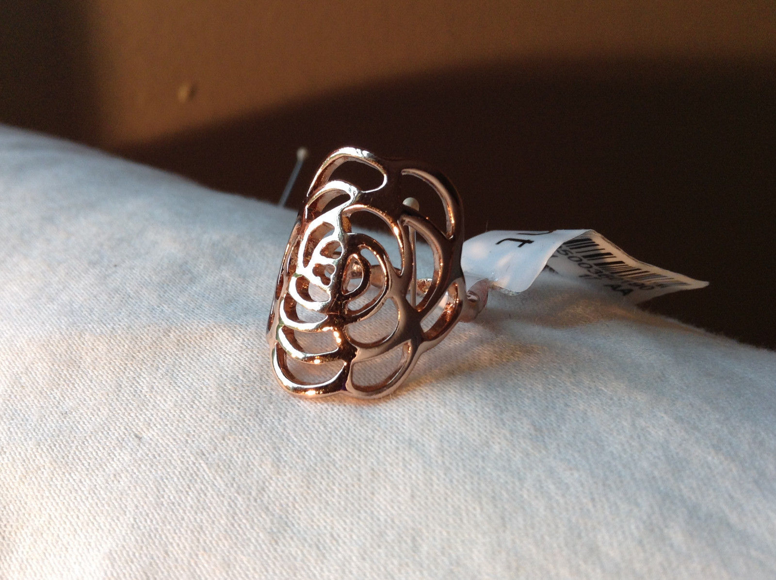 Rose Flower Design Rose Gold Tone Fashion Ring Size 6.25 and 7.5 by Rigant