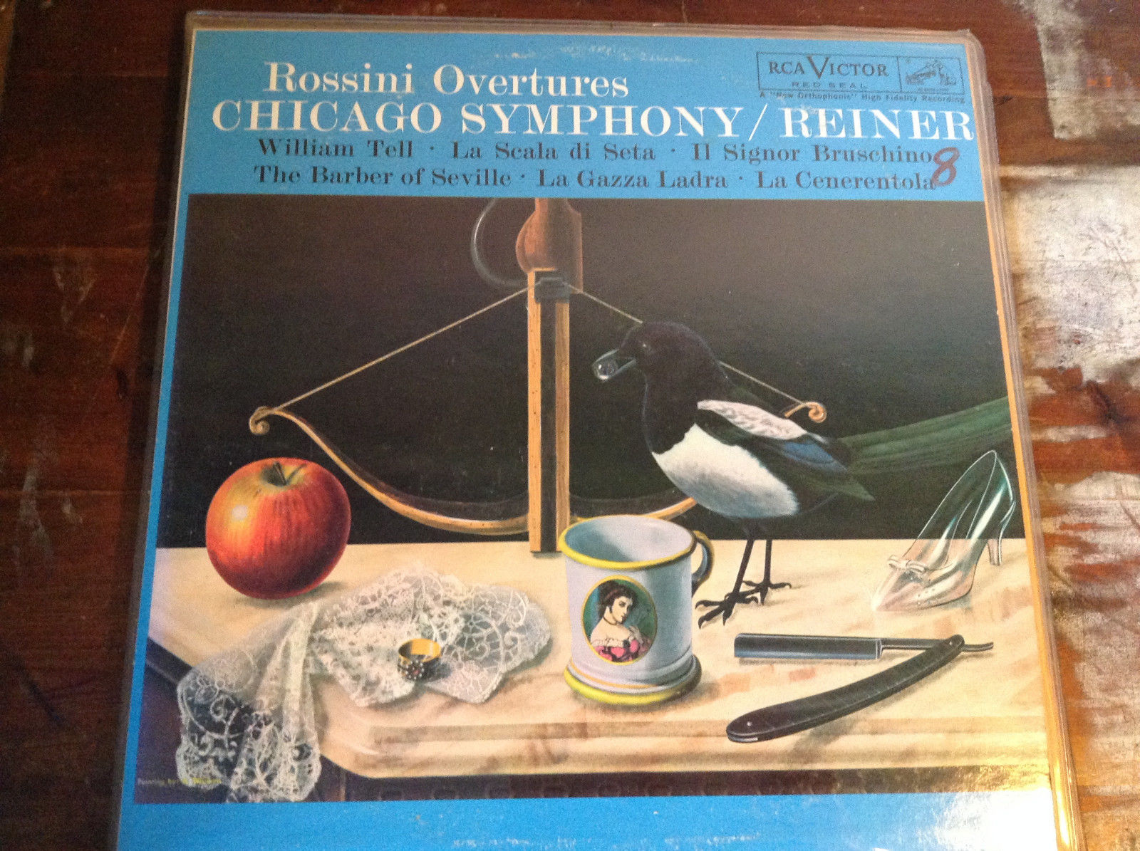 Rossini Overtures Chicago Symphony Reiner Complete with Records