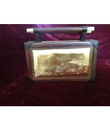 Rosewood and Lamb Skin Purse Made in Java Island Made by Hand One at a Time - $247.49