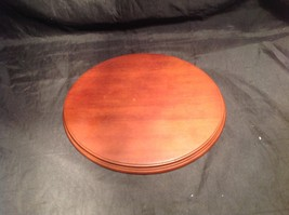 Round Brown Wooden Stand Great For Displaying Figurines or Other Items