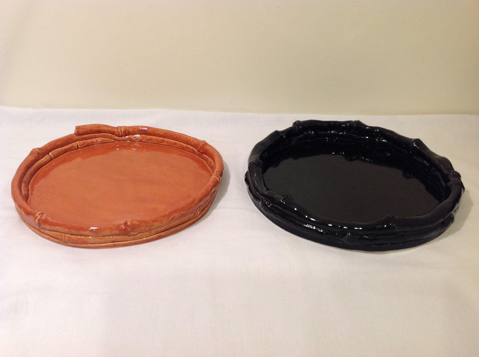 Round Tabletop Hand Made Zen Garden Dish or Plant Pot Saucer Tray Bamboo design