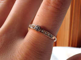 Rose Gold Tone CZ Round Delicate Ring by Rigant Size 7.75 image 1