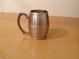 Royal Selanger Pewter Metal Silver Beer Mug with handle - $19.79