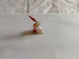 Micro Miniature small hand blown glass made USA NIB pelican w orange beak image 3
