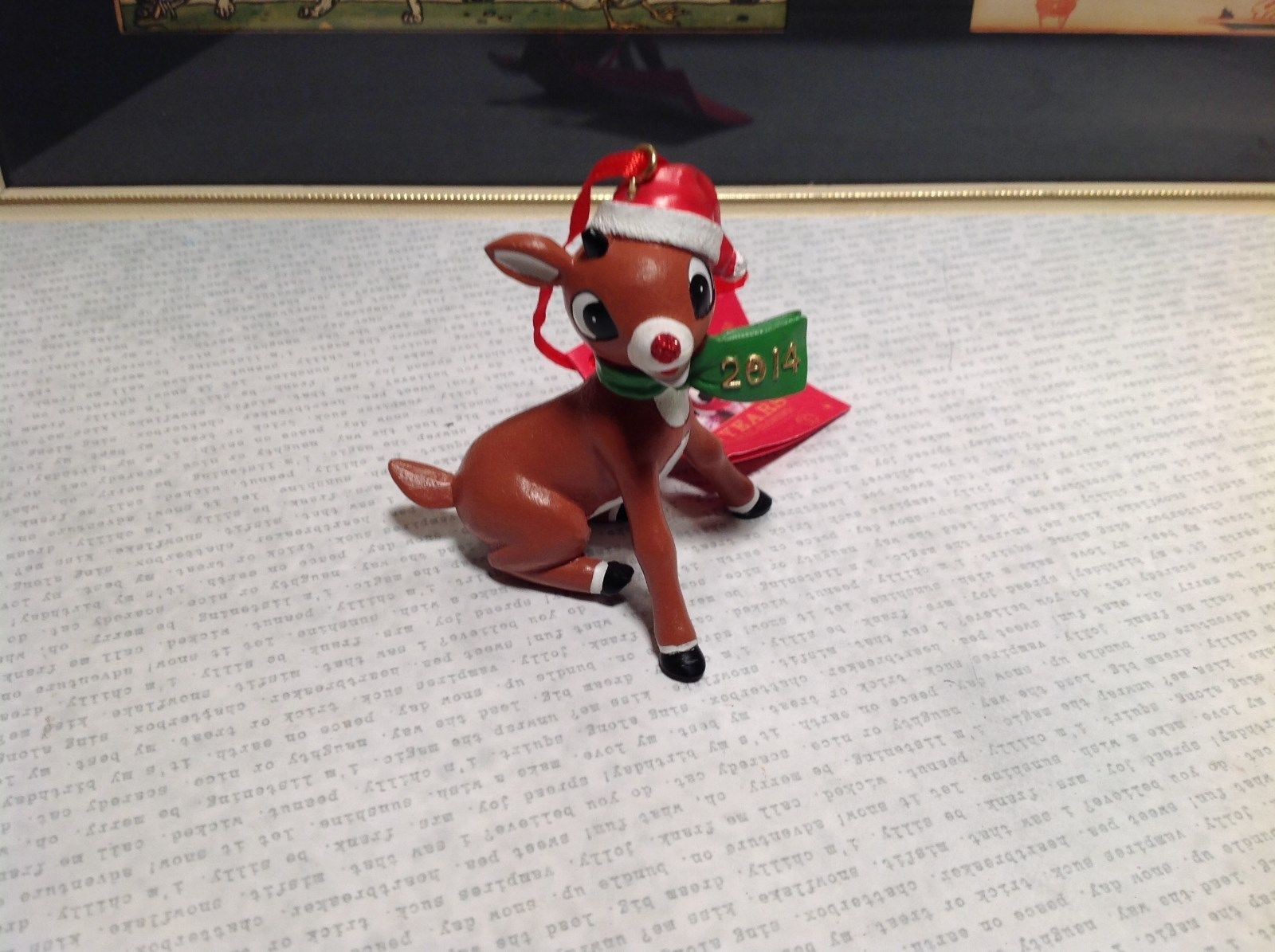 Rudolph 50 Year Anniversary Christmas Tree Ornament 2014 Resin