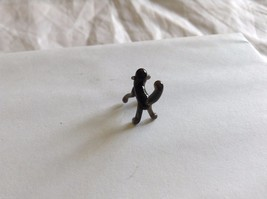 Micro Miniature small hand blown glass made USA black monkey on all fours image 4