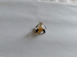 Micro Miniature small hand blown glass made USA tiny honey bee w clear wings image 3