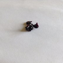 Micro Miniature small hand blown glass purple & black scorpion  made USA NIB image 3
