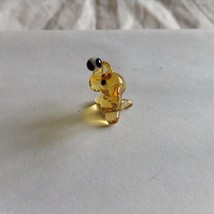 Micro Miniature small hand blown glass yellow elephant with ball made USA NIB image 4