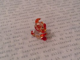 Micro miniature hand blown glass figurine  USA NIB clear pig w color accents image 5