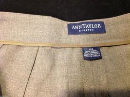 Ann Taylor stretch dress pants  size 12P dark brown image 3