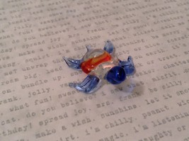Micro miniature hand blown glass figurine clear turtle w color accents USA NIB image 2