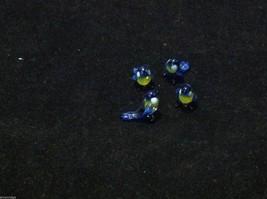 Micro miniature small hand blown glass blue yellow bluebird made in USA  NIB image 9