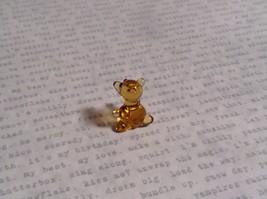 Micro miniature small hand blown glass figurine amber bear USA  NIB image 3