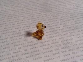Micro miniature small hand blown glass figurine amber bear USA  NIB image 5
