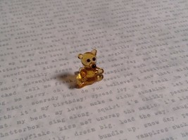 Micro miniature small hand blown glass figurine amber bear USA  NIB image 6