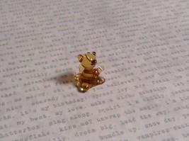 Micro miniature small hand blown glass figurine amber bear USA  NIB image 4