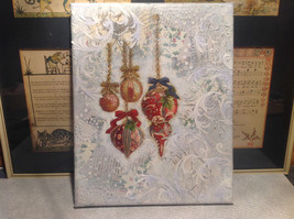 Russian Mixed media 3D collage Christmas ornaments in snow and ice signed image 1