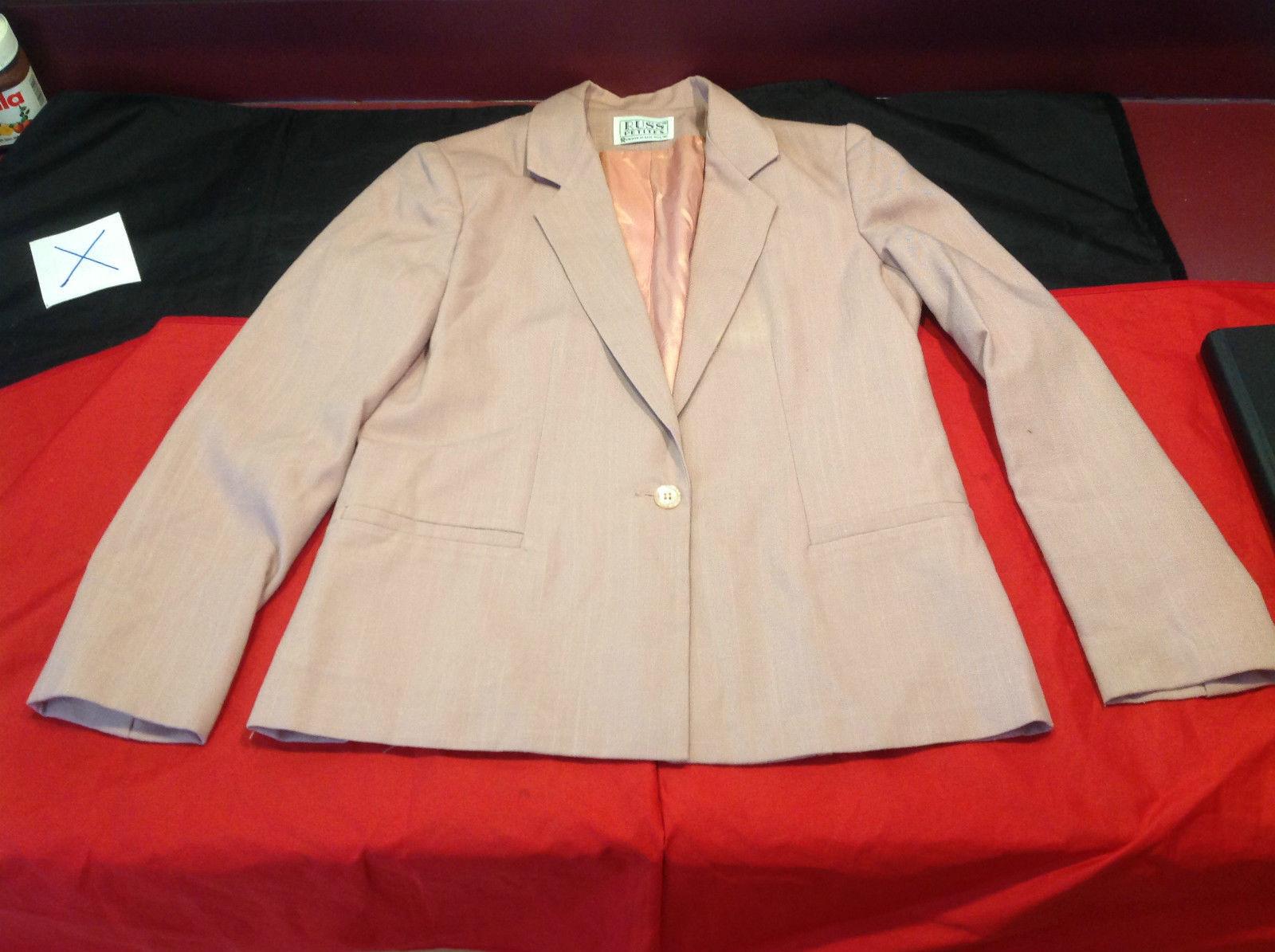 Russ Petites Blazer and Skirt Set Light Purple Blazer 19 Inch W Skirt 12 Inch W