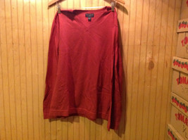 Rust Red Banana Republic Long Sleeve V Neck 100 Percent Cotton Sweater Size L