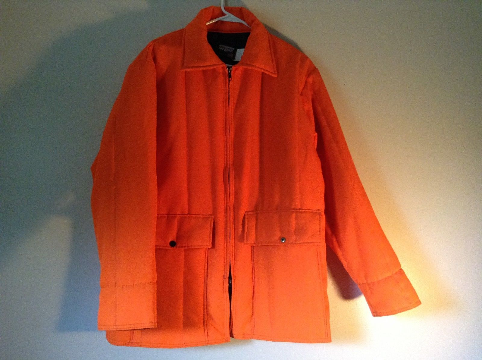 SAFT Bak Bright Orange 100 Percent Polyester Jacket Size L 42 to 44