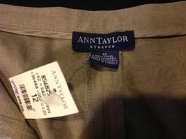 Ann Taylor stretch dress pants  size 12 tan brown image 4