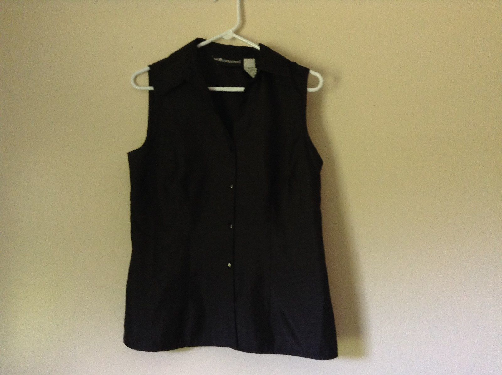 Sag Harbor Formal Dress Black Vest 100 Percent Polyester No Size Tag