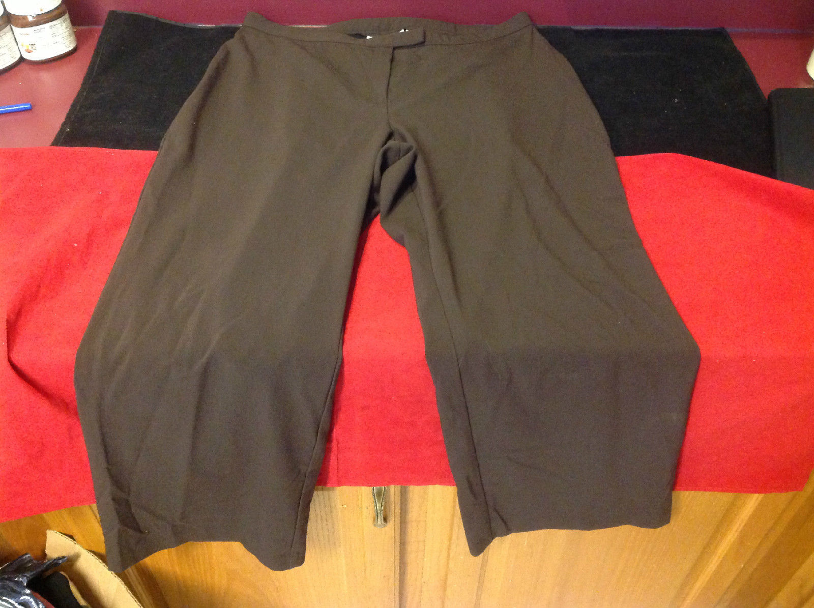 Sag Harbor Women's Stretch Pants Brown Colored Size 18W