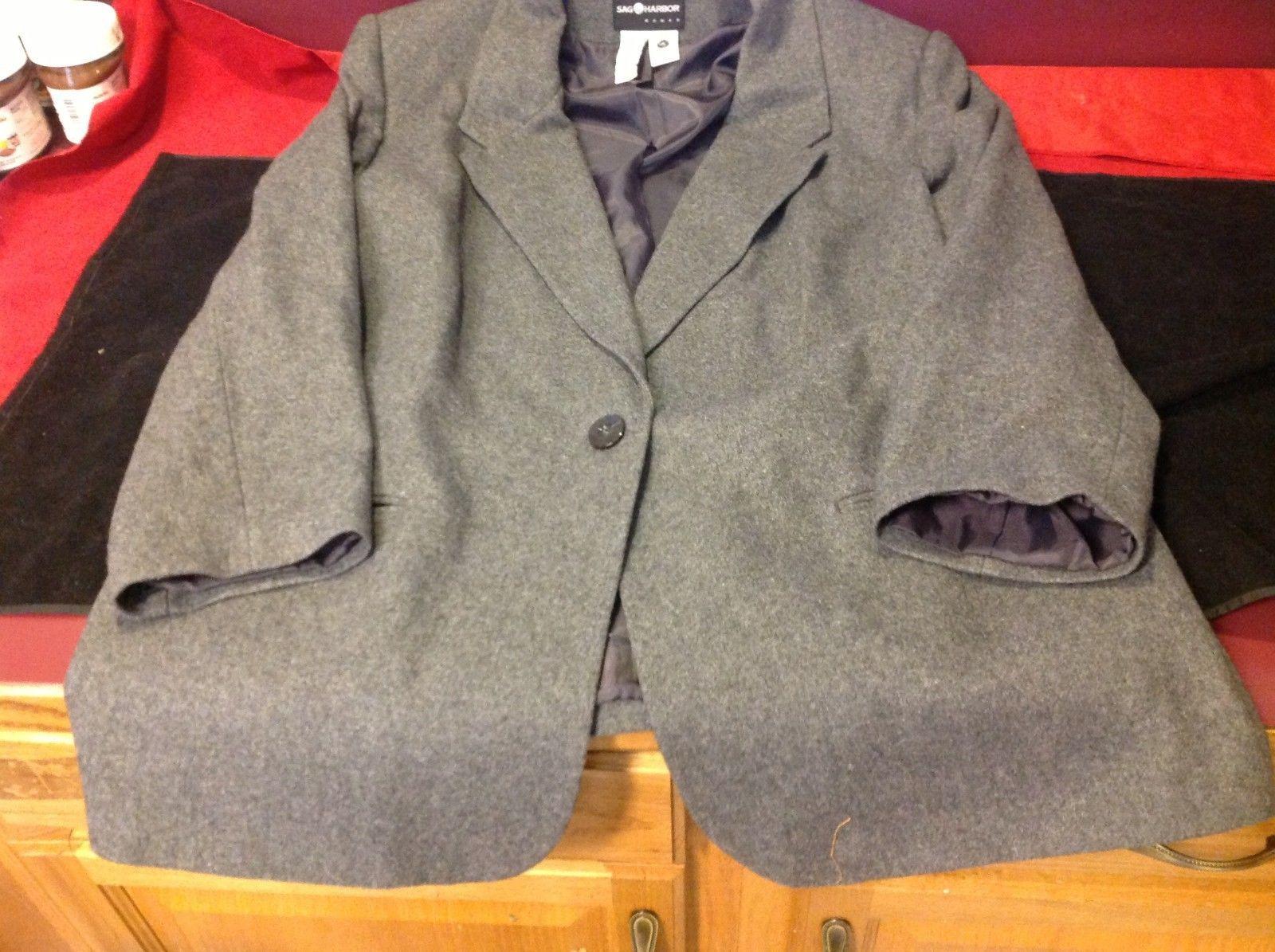 Sag Harbor dark grey womans blazer size 22 W